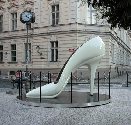 Monument of shoes in Prague